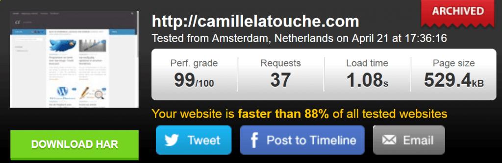 Avec WP Rocket votre site se charge vite, très vite.