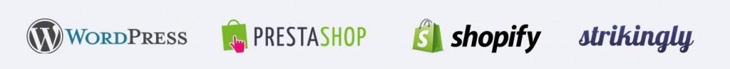 Weglot est utilisable sur PrestaShop, WordPress, Shopit